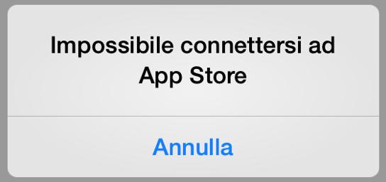 Il messaggio mostrato se si tenta di scaricare un app con il Mac