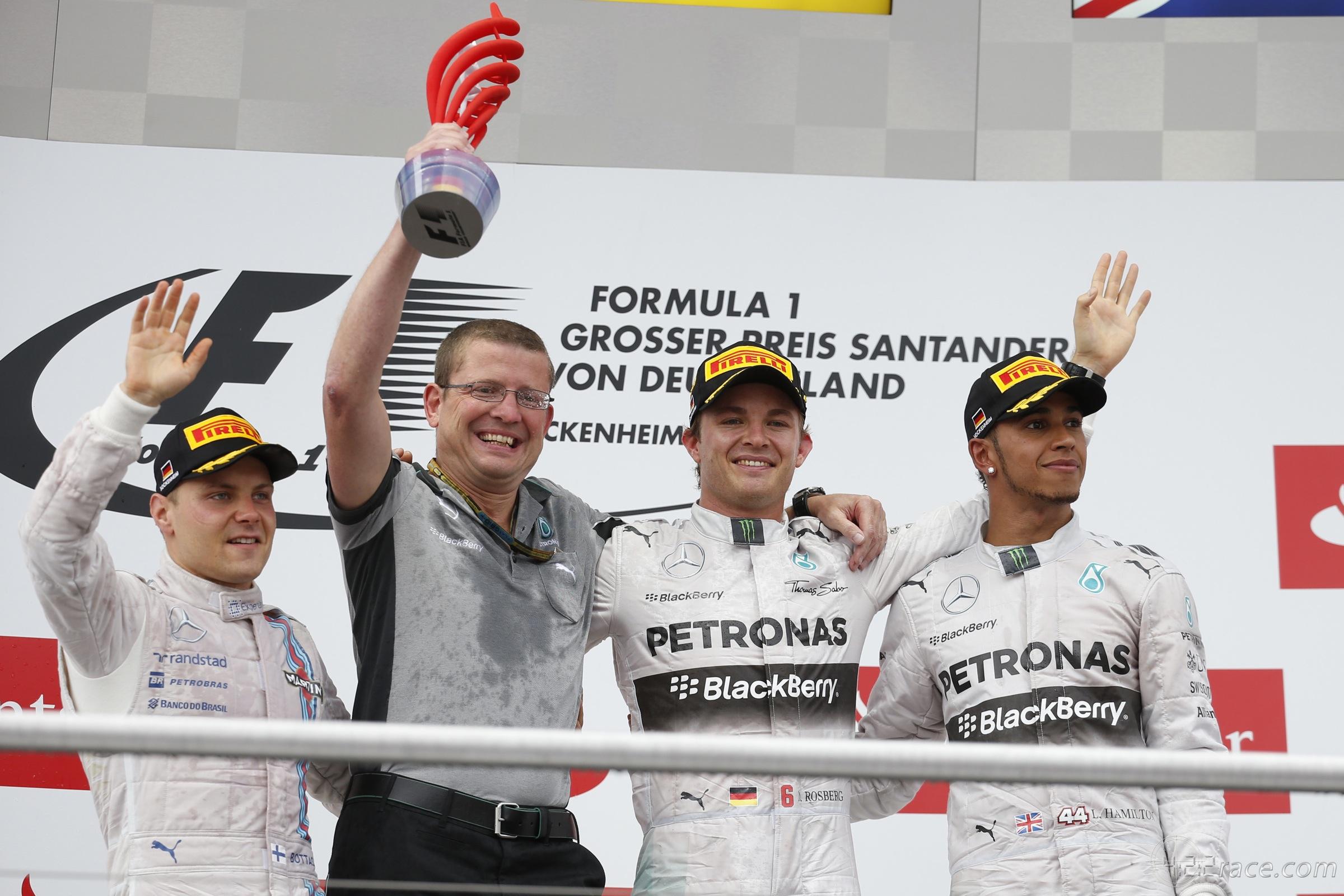 Hockenheim, il podio del 2014