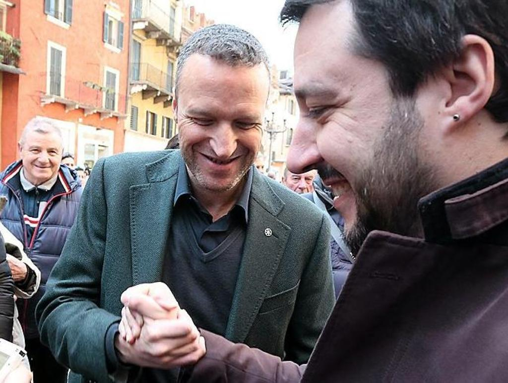 Flavio Tosi e Matteo Salvini