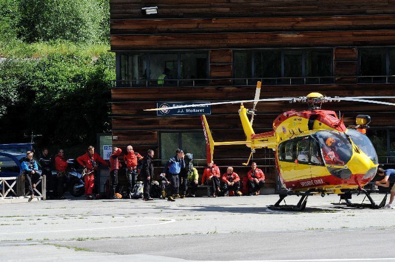 Un'immagine dei soccorsi