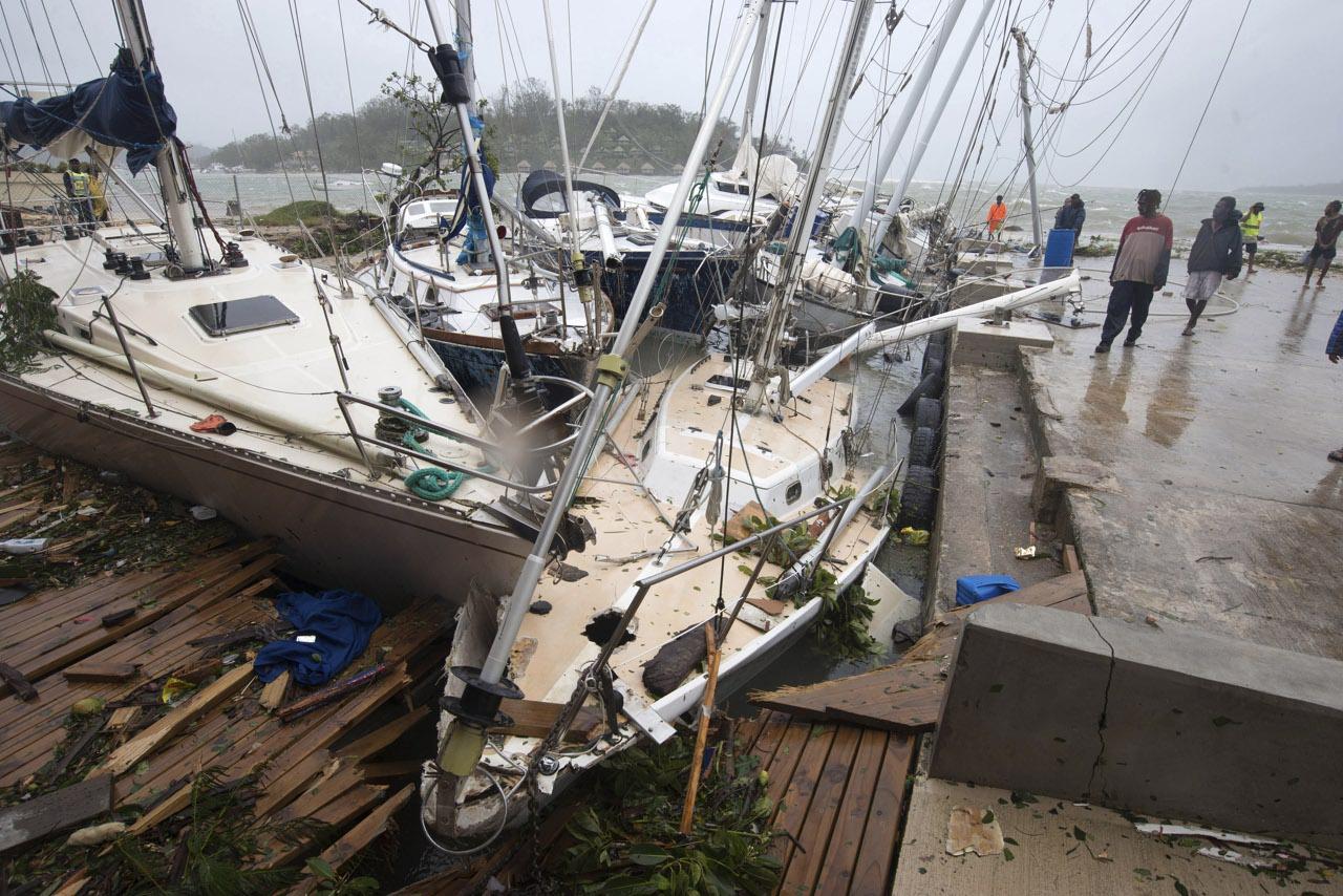 I danni provocati dal ciclone PAM