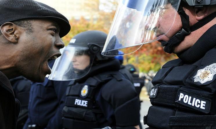 Alcuni immagini della protesta