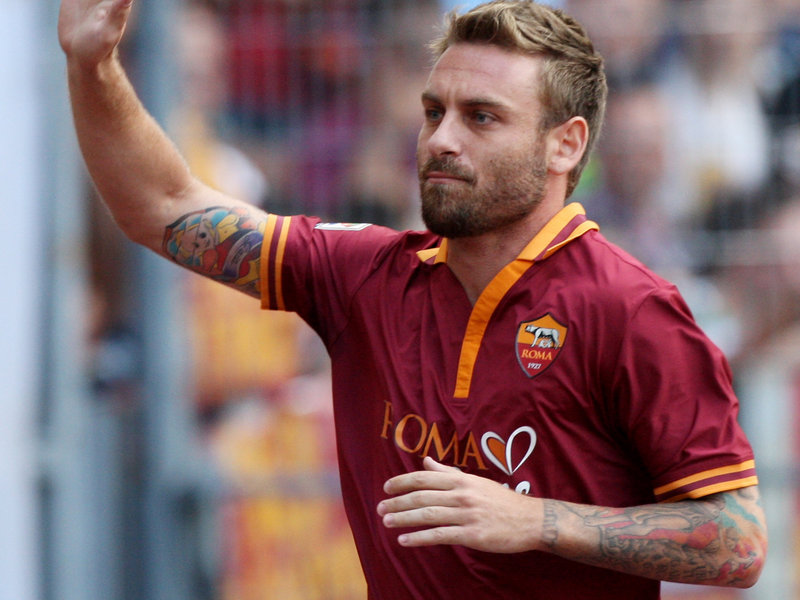 Daniele De Rossi, autore del gol vittoria per la Roma